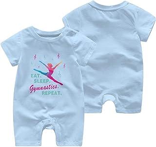 LouisBerry Eat Sleep Gymnastics Repeat-1 Kurzärmelige Mädchen Jungen Baby Strampler Baumwolle Neugeborenen Body Suit Baby Pyjama Boy Jumpsuit