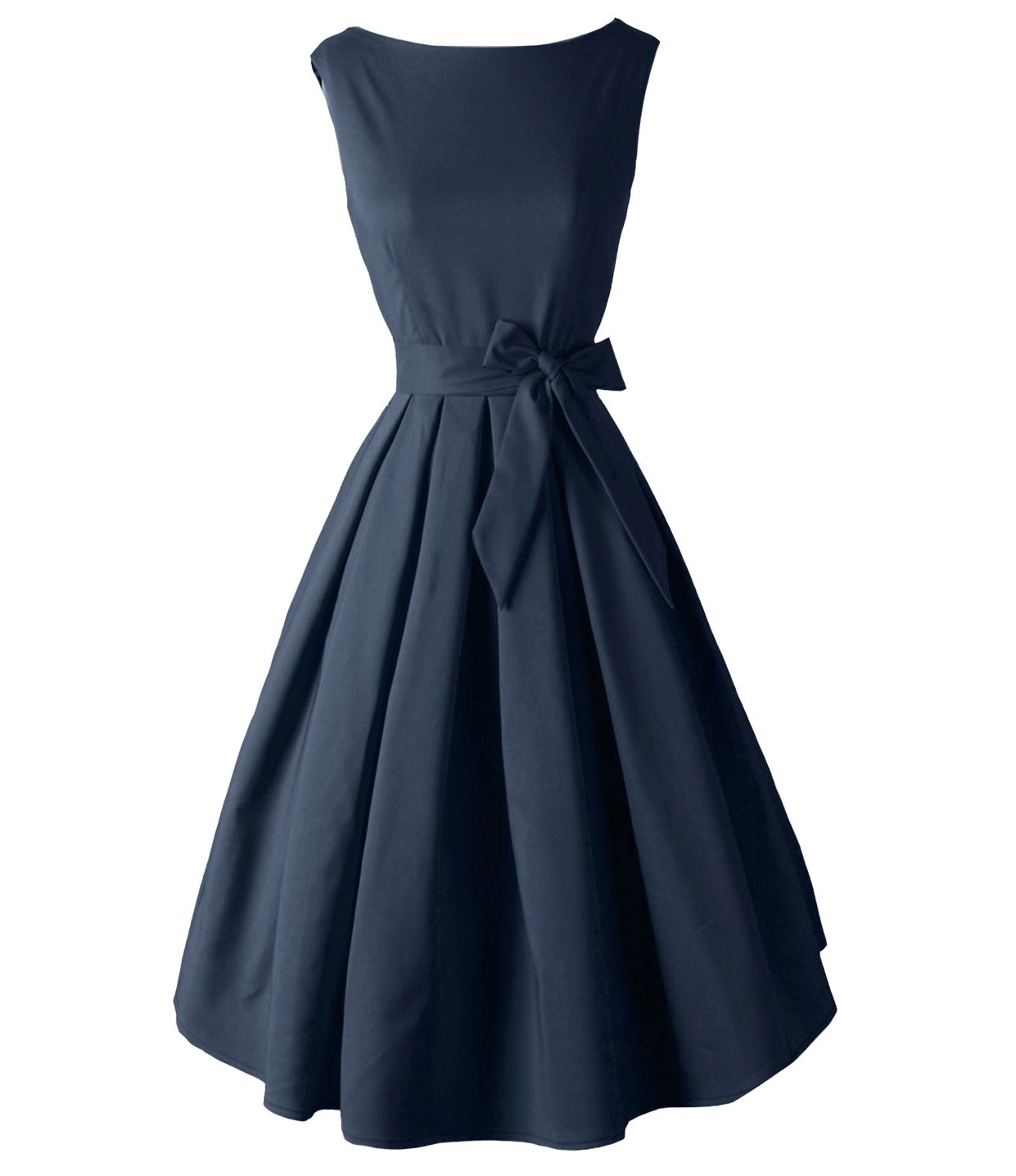 Available at Amazon: DAROJ Vintage Audrey Hurpburn 1950s Style Boat Neck Cocktail Party Swing Dress