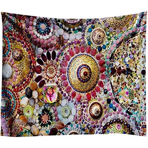 MXLF Tapestry Boheme Mandala Tapestry 3D Jade Home Decor Living Room Background Wall Carpet Cloth Hippie Blanket (Color : B004, Size : 230X150CM)