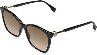 FENDI Women's Ff 0344/s Sunglasses, 807/M2 Black, 57