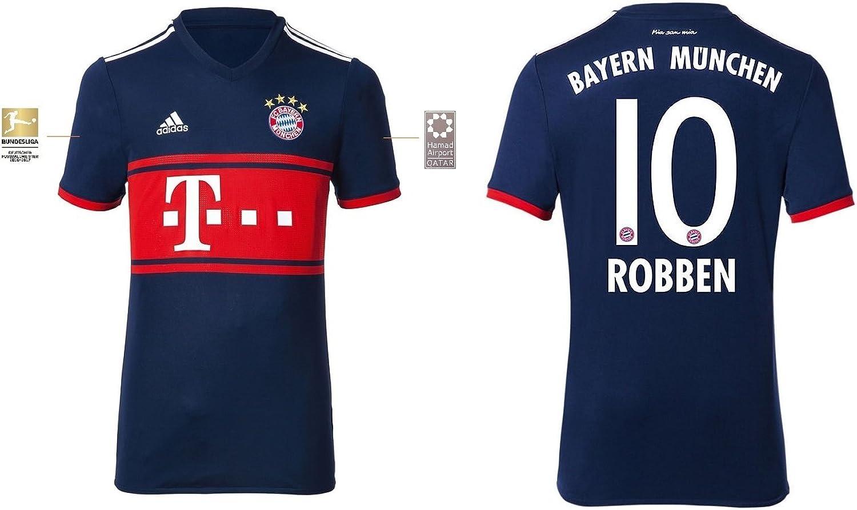 Trikot Herren FC Bayern 2017-2018 Away BL - Robben 10 B074ZQPDWC  Wirtschaft