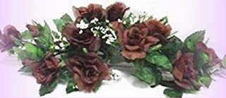 Inna-Wholesale Art Crafts New Chocolate Brown Swag Silk Roses Centerpiece Decorating Flowers Arch Gazebo Pew - Perfect for Any Wedding, Special Occasion or Home Office D?cor