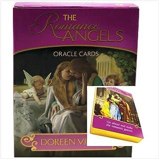 英語オラクルカードデッキタロットカード占いガイダンスボードゲームカード魔女の恋愛天使lenormand動物の精神,Romance angels