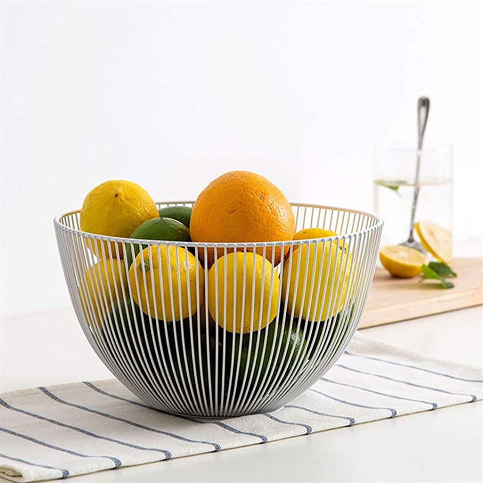 2 Pack Fruit Basket, Fruit Vegetable, Egg, Bread Storage Bowl Holder Stand for Kitchen Counter, Cabinet and Pantry Stainless Steel Wire Design with Modern Styling - Decorative Countertop Centerpiece