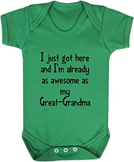 Got Already As Awesome As Great-Grandma Baby Bodysuit One Piece Kelly Green 6 Months