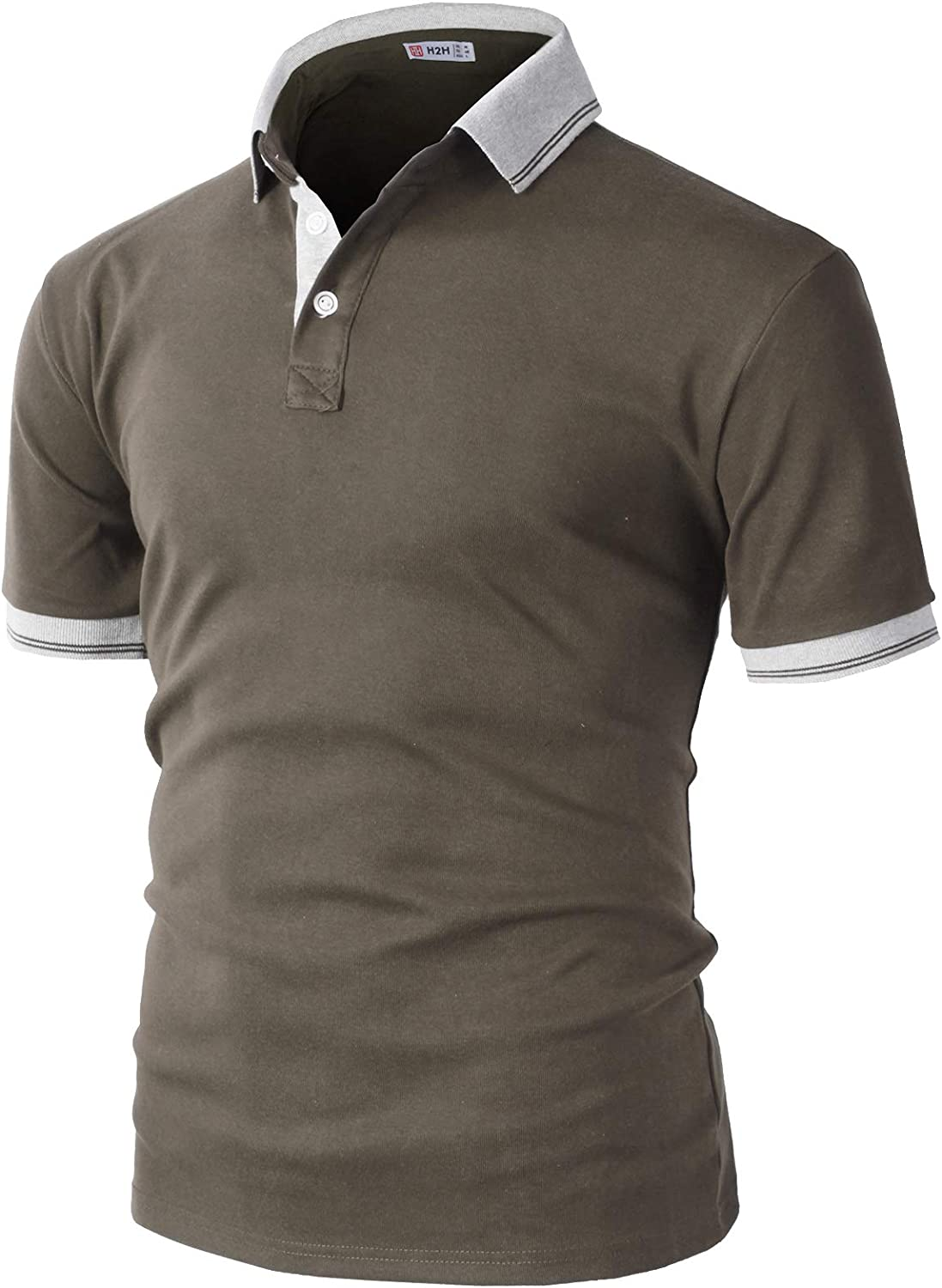 favorite H2H Mens Casual Slim Fit Polo Des and Styles Various of T-Shirts Mail order cheap