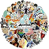 Ligoi 50 Uds Dibujos Animados Avatar Last Airbender Laptop Coche EléCtrico Casco MonopatíN Pegatina