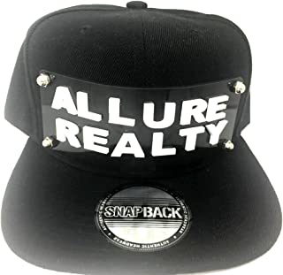 Personalized Custom Snapback Hat Six Panel Flat Bill Snap, Create Your Own Name or Word Custom Made 3D Block Letter Hat, Comfortable Snap Back, Great Gift, an Exclusive Creation Black