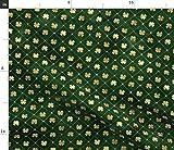 Spoonflower Stoff – Patricks Day Goldklee Kleeblatt