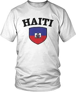 Haitian Pride T-Shirt shtseresj Mens Haiti Flag Shield