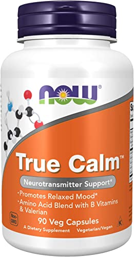 NOW Supplements, True Calm, Amino Acid blend with B Vitamins & Valerian , 90 Veg Capsules product image