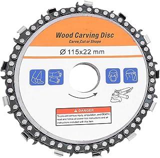 Sierra de cadena de disco, amoladora de 4,5 pulgadas Disco de talla de madera Amoladora angular Cadena Disco de sierra Accesorios para trabajar la madera Hoja de sierra circular para tallado de madera