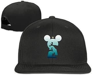 BXNOOD Kingdom Hearts Logo Flat Bill Snapback Adjustable Sports Hat Moss Green