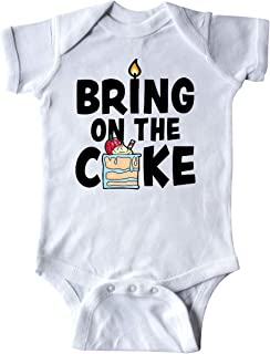Bring on The Cake with Cake Slice Replacing a Infant Creeper