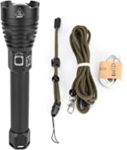 GOTOTOP Flashlight, Portable USB Charging Super Bright Telescopic Zoom Outdoor Camping Flashlight with Strap
