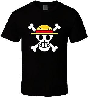 SANHUI Creative Skull Logo Short Sleeve O-Neck T Shirt for Men
