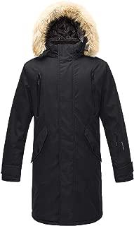 GEEK LIGHTING Mens Thickened Down Jacket Hooded Long Parka Padded Coat