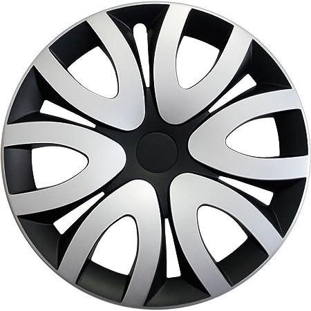 Autoteppich Stylers Radkappen Radzierblenden 16 Zoll Mika Schwarz Silber Farbe Wählbar Passend Für Fast Alle Fahrzeugtypen Universal Auto