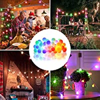 DeepDream 36Ft/11M 60 LED Christmas Decoration Lights, Solar/USB Powered String Lights,8 Modes Fairy Lights Indoor…