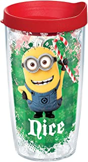 Tervis 1204611 Naughty Nice Tumbler with Lid, Mischievous Minions add a whole lot of merriment to your holidays-and to your favorite hot or cold drinks. , Red