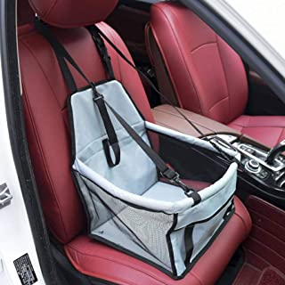 HGG Pet Car Booster Seat Breathable Waterproof Pet Dog Car Supplies Travel Pet Car Carrier Bag Seat Protector Cover with Safety Leash for Small Dogs Cats Puppy, Five Colors Optional