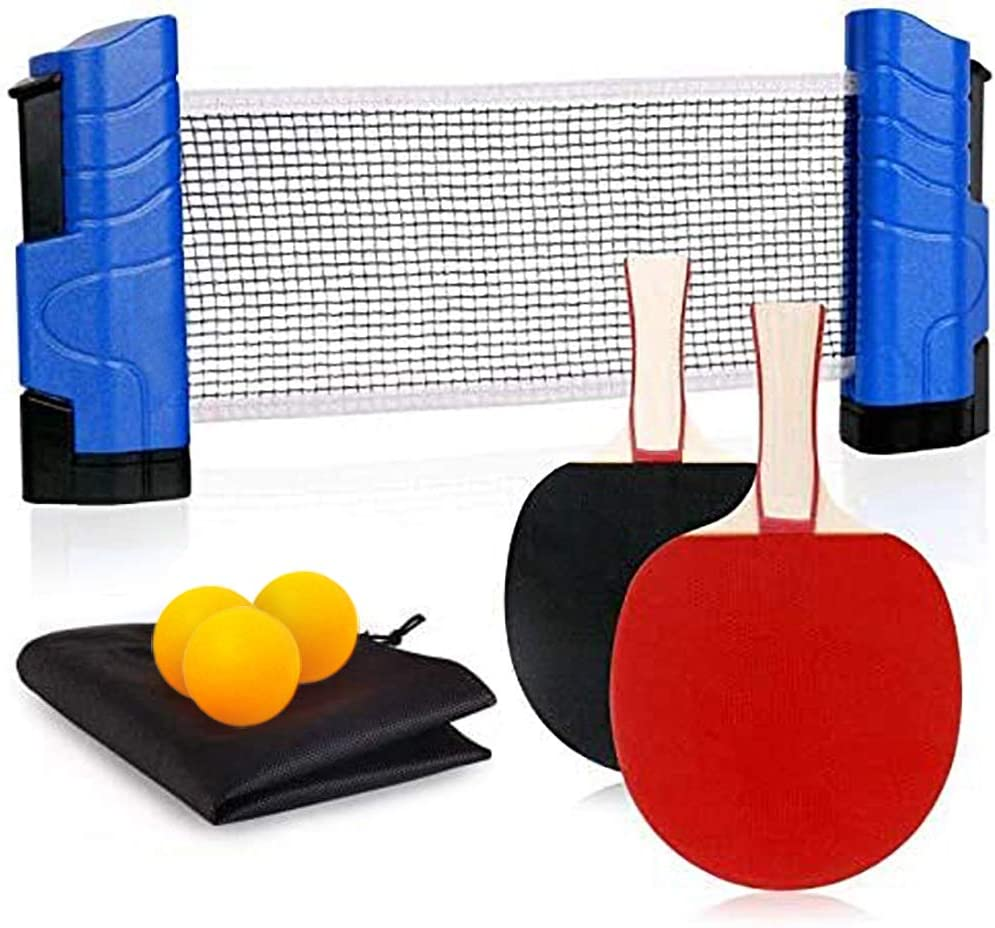 Funsraying Anywhere Ping Pong Retractab to-Go Manufacturer OFFicial shop Equipment Includes Popular shop is the lowest price challenge