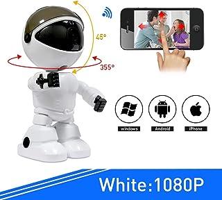 HWUKONG BabyMonitor cámara para teléfono de 1080PHD cámara de niñera con Capacidad para WiFi Talkback bidireccional con alertas celulares activadas por Movimiento Compatible con iPhone y Android