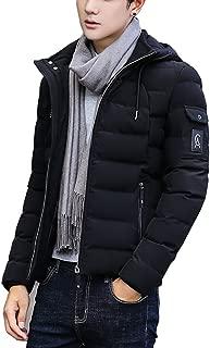 [Respeedime] ンズ ファッション 冬 服 カジュアル フード付き ジャケット ダウン コート アウター 防寒着,超軽量