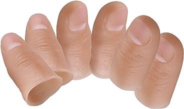6Hohe Qualität Fake Soft Daumen Spitze finger Kunststoff Magic Trick Play Stage Show Prop 4Spielzeug Gadget für Halloween Party Standard Erwachsenen Größe 55* 22mm