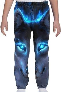 Adolescentes Chicos Niñas Pantalones de chándal Pantalones Deportivos o Loungewear de Fondo de Jogging, Silver Wolf