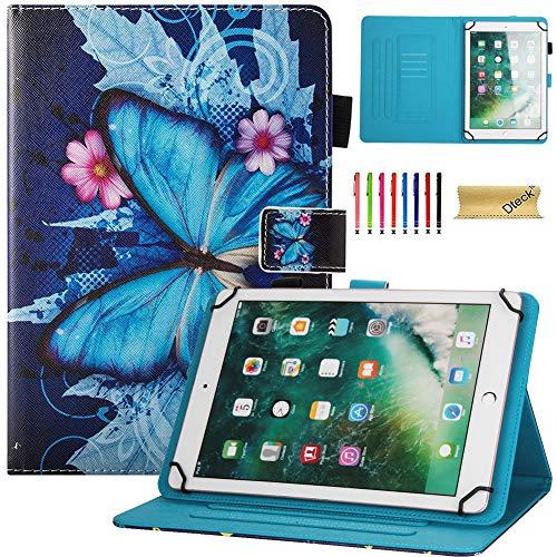 Dteck Universal-Schutzhülle für Tablets mit einer Displaydiagonale von 19.1–21.6 cm (7.5–8.5 Zoll) (iPad Mini, Samsung Tab, Fire HD 8 2016 & 2017, Lenovo Tab 4 8), Huawei MediaPad M2 8.0