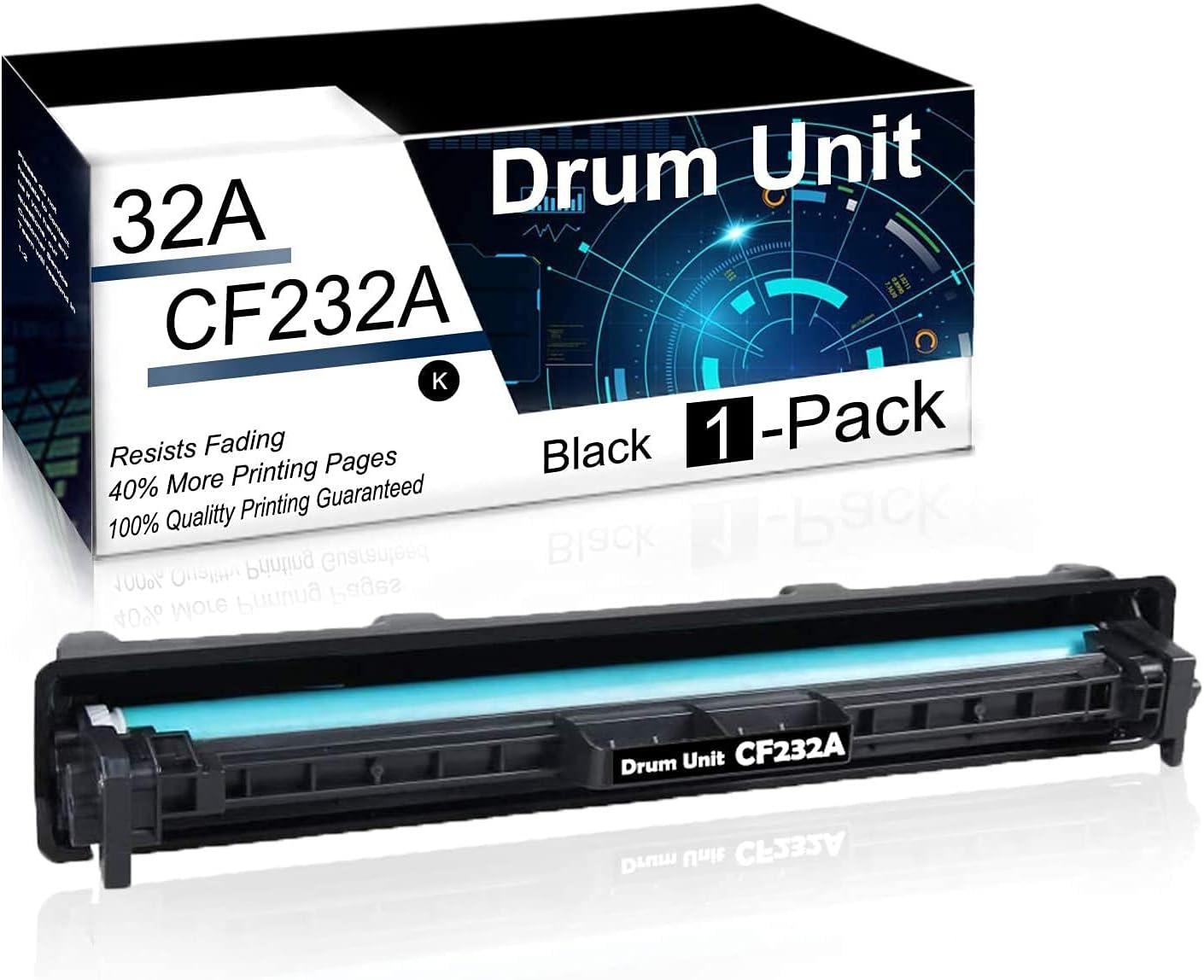 1 Pack Black 32A | CF232A Compatible Drum Unit for HP Laserjet Pro M203dn M203dw M203d MFP M227sdn MFP M227fdw MFP M227fdn Ultra MFP M230sdn MFP M230fdw Printer Drum Unit.