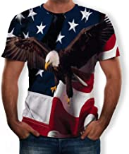 XQXCL USA Military American Eagle Flag Patriotic Men's T-Shirt Round Neck Sleeveless Fashion Tops