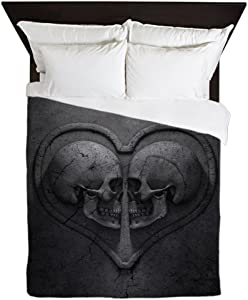 CafePress Gothic Skull Heart Queen Duvet Cover Queen Duvet Cover, Printed Comforter Cover, Unique Bedding, Microfiber