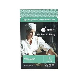 Foam Magic ⊘ Non-GMO ❤ Gluten-Free ☮ Vegan - 25g/1oz (Create stable hot or cold culinary foams from most liquids)