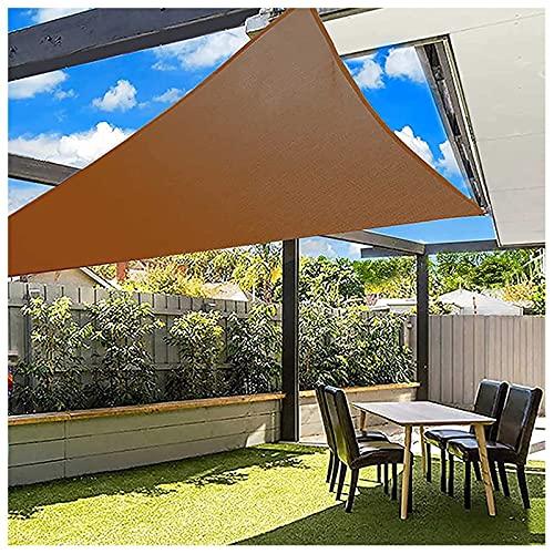 Triangular Velas De Sombra 4x4x5.7m Para Patio Toldos Exterior Terraza Con Cuerda Libre Protección Rayos UV Impermeable Para Patio Exteriores Jardín Balcón Café(Size:5*5*7.1m(16.4*16.4*23.2ft))