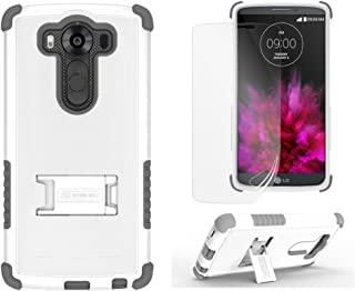 Beyond Tri-Shield Case for LG V10 - Retail Packaging - White/Gray