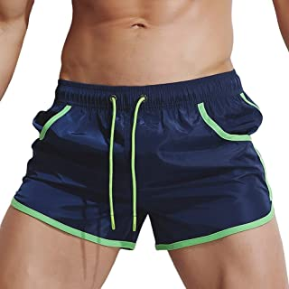 Casual Summer Athletic Sports Fashion Elastic Rope Stretch Casual Plain Loose Beach Short Pants TAGGMY Mens Shorts Pocket