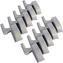 10 stks Scharnier LED Sensor Licht Warm / Koel Wit Universele Kast Kast Kast Kledingkast LED Scharnier Licht voor Thuis Ke...