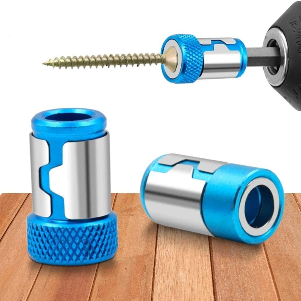 """Hengyixing Universal Magnetic Ring 1//4/"""" Metal Screw Bit Magnetic Ring For 6.35mm Shank Anti-Corrosion Drill Bit Magnet Powerful Ring-1"""