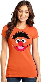 Sesame Street Ernie Face Junior Women`s T-Shirt