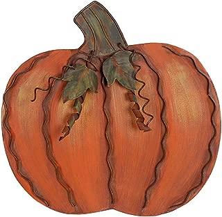 Metal Pumpkin Decoration for Home Free Standing Metal Flat Pumpkins for Fall Harvest DecorThanksgiving Halloween Outdoor Decoration  (11.75''H)