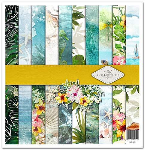 ITD Collection – Paquete de álbumes de recortes, 12 x 12 pulgadas, papel de scrapbooking, Decoupage, papel decorativo, tamaño de papel para hacer tarjetas, 310 x 320 mm, SLS010 (Tropical Dreams)