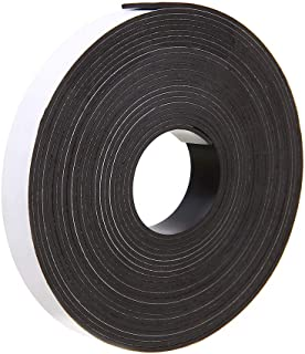 LLPT Magnetic Tape 1/2 Inch x 17 Feet Double Sided Magnet Strip Roll Strong Self Adhesive for Teaching DIY Crafts and Display(MHT017)