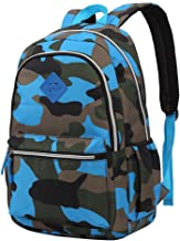 Boy's Backpack for Middle School Camouflage Print Bookbag Lightweight Kids School Bags