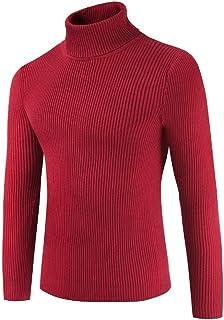 Jumper Men s Size l UK Men's Pullover Turtleneck Long Sleeve Tight Knitted Cardigans Slim Fit Sweater Knit Hot Fashion Swe...