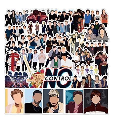 LZWNB One Direction Band Around The Sticker - Adhesivo decorativo para equipaje, cuaderno o monopatín, 50 unidades