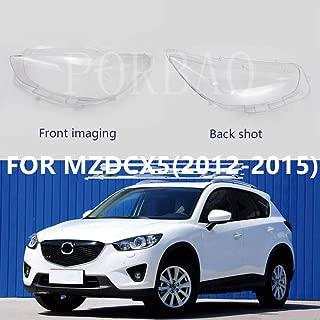 Headlight Transparent Lens Cover for Mazda CX5 2012 2013 2014 2015 Headlight Lamp Light Cover Headlight Cover Left+Right (Left)