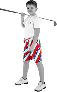 Royal & Awesome Kids Bright Funky and Funny Golf Shorts