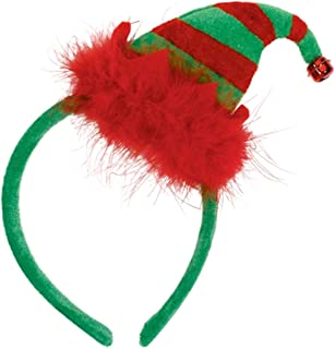 Amscan Mini Headband Elf, 22.8 x 12.7 cm, Red